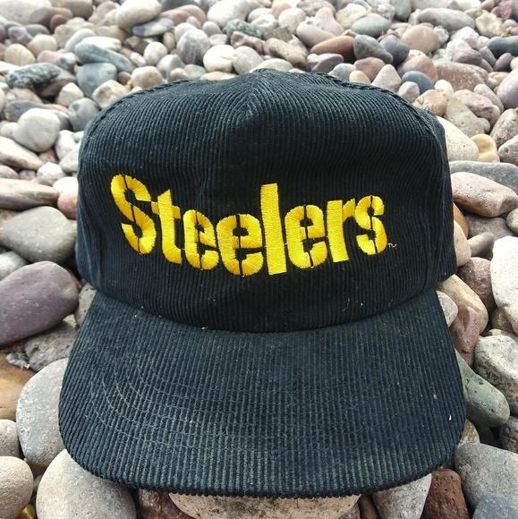 b3ed0480 Vintage Pittsburgh Steelers snapback corduroy hat
